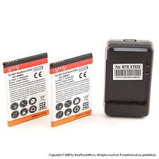 2 x 1950mAh Battery for Motorola Atrix 2 MB865 Dock Charger