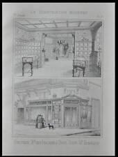 PARIS, BOUTIQUE BD DES ITALIENS - 1894 - PLANCHE- CHERRY BLOSSOM - HENNEQUIN