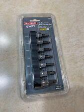 Craftsman 7 Pc 3/8 in Drive Torx Bit Socket Set T-15 to T-50