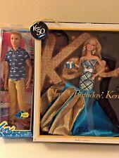 New In Box Barbie Happy Birthday Ken & Ken Fashionista Doll Lot
