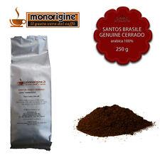Caffè Arabica macinato fresco per espresso Santos Brasile Genuine Cerrado 250 gr