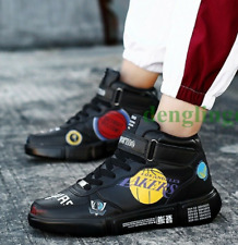 US9 Mens Flats Sport Basketball Shoes Casual Sneakers Athletic High Tops HOT