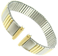 12-16mm Gilden Twist-O-Flex Silver and Gold Two Tone Metal Watch Band Long 146-T