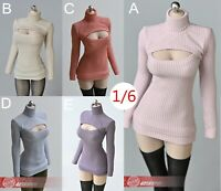 """1//6 Open Chest Sweater Clothes Model Fit 12/"""" Female Phicen TBLeague Body Toys"""