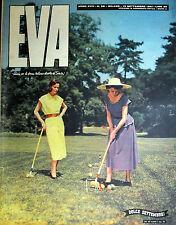"""* EVA N°38/ 15/SET/1951 * Rivista per la donna italiana diretta da """" Sonia """" *"""