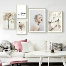 Nordic Quotes Flower Girl A4 Posters Home Wall Art Decor Picture Canvas Painting