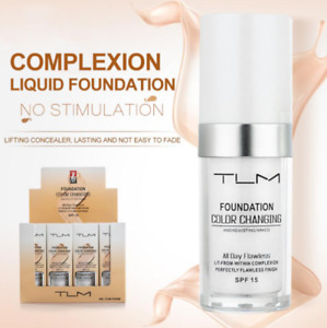 TLM Color changing Foundation Oil Control Waterproof Concealer Liquid Hydrating