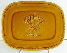 "Franciscan Wheat Serving Platter 12"" Large Plate Harvest Golden Brown California"