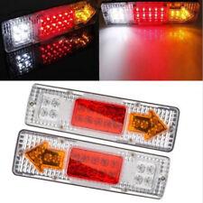 2x 12V 19-LED Tail Light Car Truck Trailer Stop Rear Reverse Turn Indicator Lamp