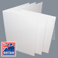 25 pack x White Blank Greetings Cards 5 x 7 inch when folded