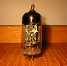 AS NOS 1954 MULLARD I600 ECC83 CV492 12AX7 pre-mC1 LONG SQUARE AVO TEST 106%109%