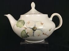 THUN Czech PORCELAIN TEAPOT Hand Painted Dogwood Flower OOAK