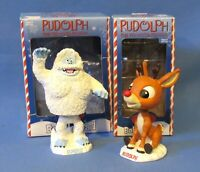 RUDOLPH THE RED-NOSED REINDEER & ABOMINABLE SNOW MONSTER BOBBLE HEADS