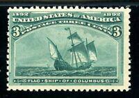 USAstamps Unused FVF US 1893 Columbian Expo Columbus Flagship Scott 232 OG MNH