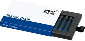 Montblanc Royal Blue (8) Fountain Pen Ink Cartridges #105193~ NIB ~Sealed