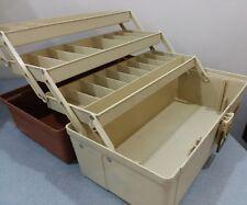 Vintage Plano Brown Tan 3 Tray Plastic Fishing Tackle Box • Model 6303 ~8/1985