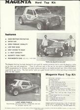 MAGENTA HARD TOP KIT CAR SALES 'BROCHURE'/SHEET 1970's??