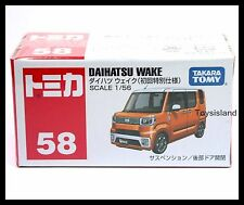 TOMICA #58 DAIHATSU WAKE 1/56 TOMY NEW DIECAST CAR ORANGE
