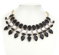 Statement Kette schwarz weiß gold Halskette by Ella Jonte newcomer necklace