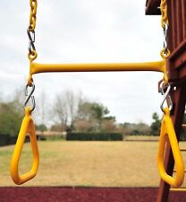 Trapeze Swing Set yellow with Plastisol Coated Chains PlaysystemParts NEW