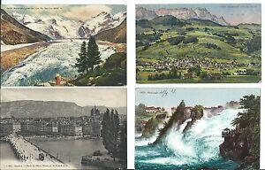 MAGMA SCHWEIZ lot 4st. genf,appenzell,rheinfall,moreratsch gletscher 1909,13,27