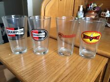 Champion spark plug Beer Steins set of 4 Pint Glasses