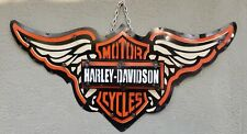 Metal HD MOTORCYCLE Sign Gas Oil Garage Man Cave Home Decor Bike Shop WINGS