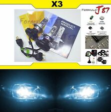 LED Kit X3 50W 9003 HB2 H4 8000K Icy Blue Headlight Two Bulbs High Low Plug Play