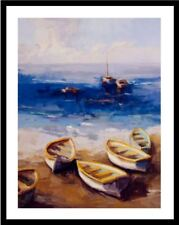 """Nautical Vessels"" by Vicki McMurry (Art/Lithograph/Contemporary/Beach)"