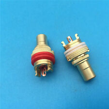 Gold RCA Female Socket Chassis Connector Phono Copper Plug Amp HiFi 4Pcs
