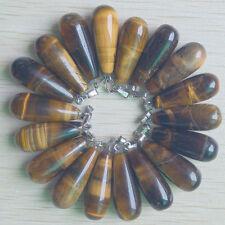 Natural tiger eye stone long drop charms Pendants wholesale 50pcs/lot