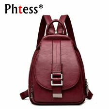 Women Backpack Casual Leather Teenage School Travel Bag