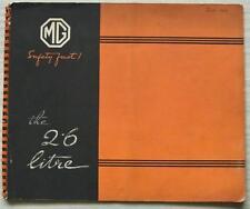 MG 2.6 LITRE CAR Sales Brochure June 1939 4 DR SALOON & FOLDING HEAD FOURSOME