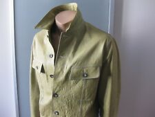 JIL SANDER ORIGINAL HERREN LEDERJACKE GR 52 APPLE GREEN MADE IN ITALY