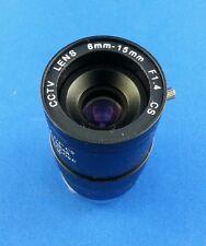 6 - 15 MM CCTV Lens CS manual-Iris Vari-Focal  w/Lock