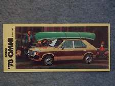 1978 DODGE OMNI MINI BROCHURE CARD