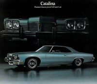1973 Pontiac Catalina Original Car Dealer Sales Brochure Folder
