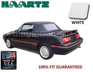 WHITE Mercury Capri Convertible soft Top & Plastic Window Fits: July 1992-1994