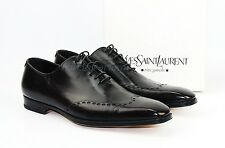 YSL YVES SAINT LAURENT DARK BROWN JONNY LACEUP LEATHER SHOES ITALY SZ 40,5 NEW