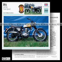 #038.07 BSA 441 B44 VICTOR SPECIAL 1960's MotoCross Fiche Moto Motorcycle Card