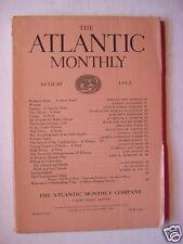 ATLANTIC August 1912 JAMES O FAGAN WILLIAM JOHN HOPKINS