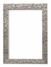 Textured Flat Frame Photo Picture Frame Poster Frames Wall Decor A4 A3 Silver