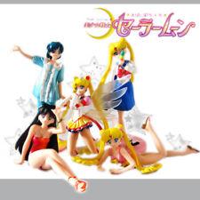 5x Pretty Guardian Sailor Moon Tsukino Usagi Mizuno Ami Hino Rei Figurine Statue