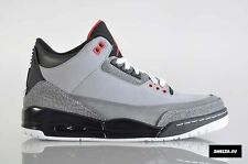 2011 Nike Air Jordan 3 III Retro Grey Stealth Size 9.5. 136064-003 1 2 4 5 6