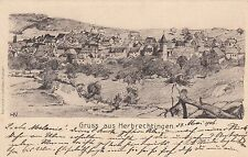 Saluti da Herbrechtingen AK 1906 artisti Baden-Württemberg RARO 1701336