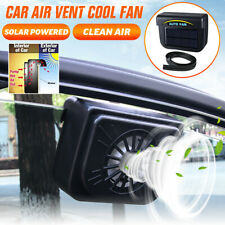 Auto Car Window Air Vent Cooling Fan Sun Solar Powered Cooler Radiator System
