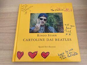 Ringo Starr _ Cartoline dai Beatles _ Libro _ 2005 Rizzoli Fuori Catalogo RARO!