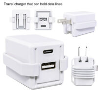 2 Port Quick Wall Charger Cell Phone Fast Charging Station For iPhone, and more