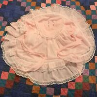 Vintage Will Beth Pastel Pink Semi Sheer Dress PartY Circle Pretty Toddler Girl