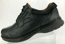 Clarks Unstructured Un.Bend Oxfords Black Leather Casual Shoes Mens US 12.5 XW